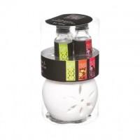 Аромокомплект с 3 броя масла и свещник  - La Maison
