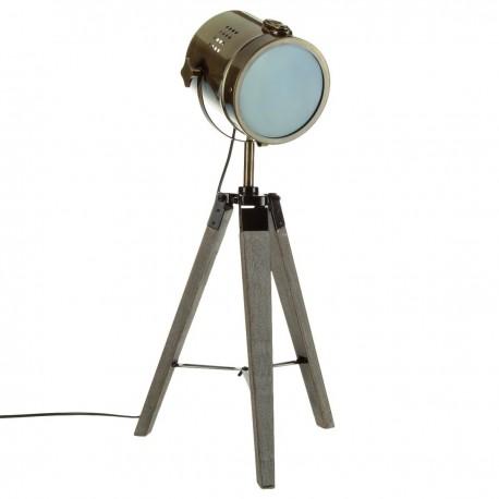 Лампа Ебор, метал и дърво h.68 см.- La Maison