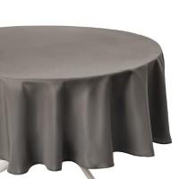 Покривка за маса, анти петна кръгла д.180 см., цвят таопе.- La Maison