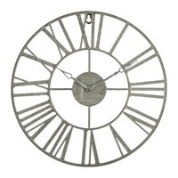 Метален ретро часовник сив д. 36.5 см. - La Maison