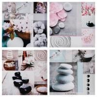 Картина цветя и камъни 28 х 28 см.- La Maison