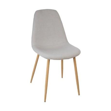 Трапезен стол Рока , светло сив - La Maison