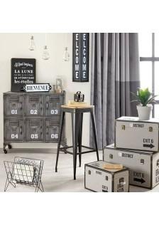 Черен, метален бар стол Йорис - La Maison