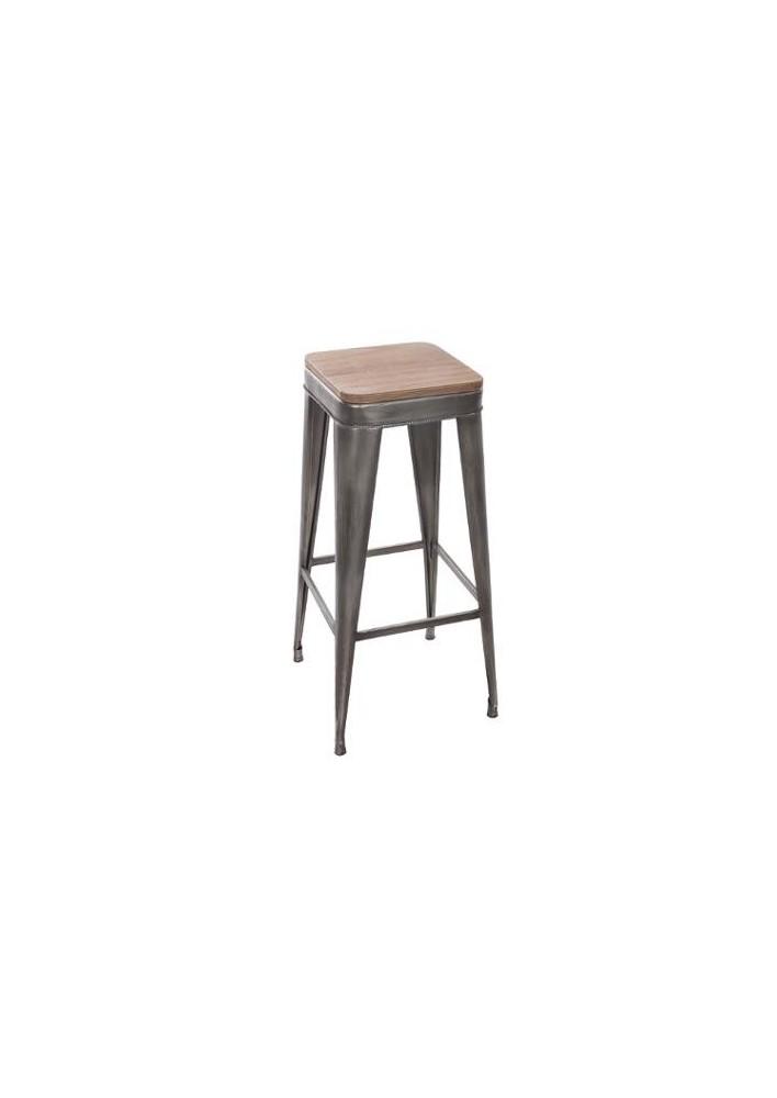 Сив, метален бар стол Йорис - La Maison