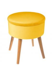 Табуретка с място за съхранение Тес, цвят горчица - La Maison