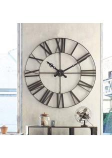 Метален ретро часовник д.96.5 см , черен- La Maison