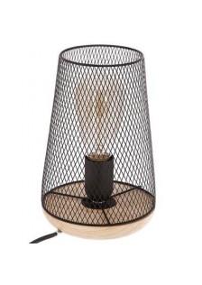 Настолна лампа метал и дърво  -La Maison