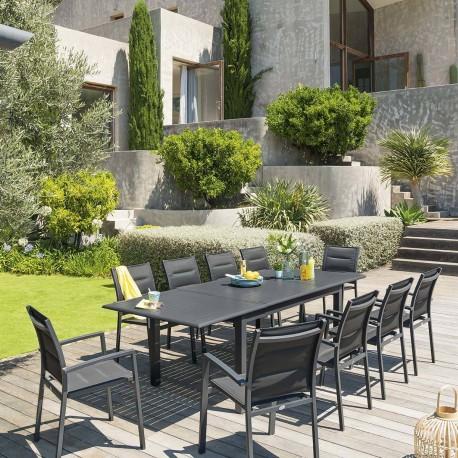 Градинаска, разтегателна маса Азуа ,цвят графит  160 /254 см- La MAison