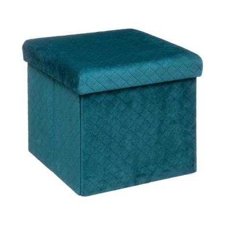 Сгъваем пуф - кутия , Велвет 31 х  31 см. - La Maison
