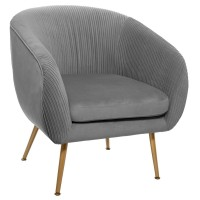Кресло Соларо цвят сив - La Maison