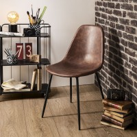 Трапезен стол Валди , кафяв - La Maison