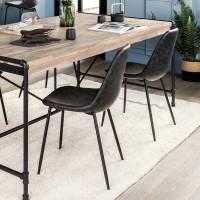 Трапезен стол Валди , сив- La Maison