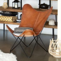 Кресло от естествена кожа Дарио - La Maison