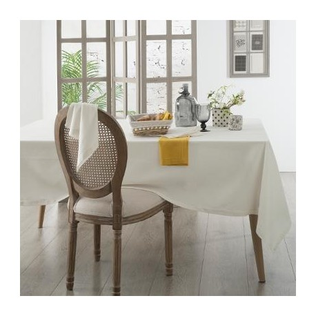 Покривка за маса Шамбрей  , бяла 140 х 240 см. - La Maison
