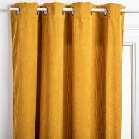 Затъмняващо перде  Кора цвят горчица 140 х 260- La Maison