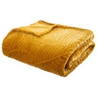 Одеяло Листопад цвят горчица 220 х 240 см -La Maison