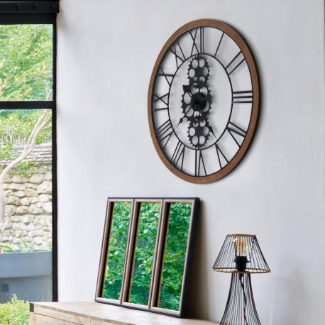 Метален часовник с механизъм д. 70 см. - La Maison