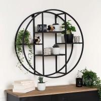 Рафт метал и дърво кръгъл д.78 см. - La Maison