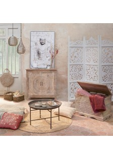 Параван с орнаменти в бяло - La Maison