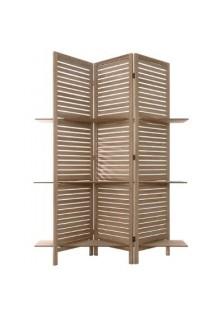 Дървен параван с рафтове - La Maison