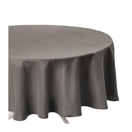 Покривка за маса Анти петна кръгла 180 см., цвят таопе  - La Maison