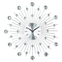 Метален часовник с камъни д.33 см. - La Maison