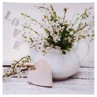 Картина цветя и сърце 28 х 28 см.  - La Maison