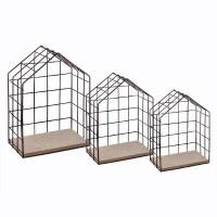 Метални етажерки къщички 3 бр. в комплект - La Maison