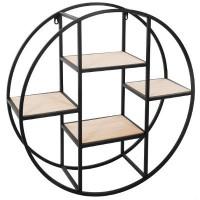 Етажерка метал и дърво кръг д. 78 см. - La Maison