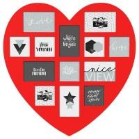 Рамка за снимки 13 бр. сърце - La Maison