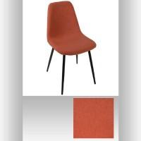 Трапезен стол Тика ,цвят теракота с черни крака  - La Maison