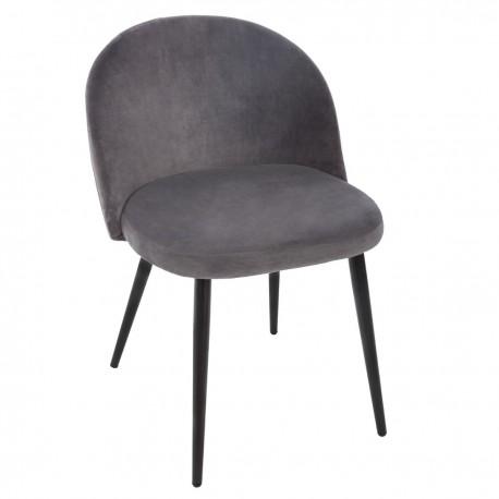 Сив стол от кадифе Наел   - La Maison