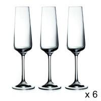 "Комплект чаши бяло вино и шампанско 6 бр ""Селенга""- La Maison"