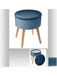 Табуретка с място за съхранение Тес, цвят син - La Maison
