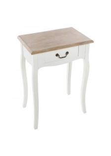 Нощно шкафче  Крисия , бяло  - La Maison