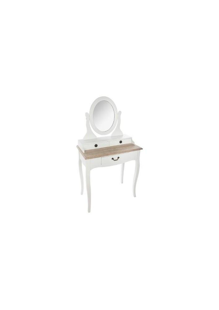 Тоалетка Крисия , цвят бял  - La Maison
