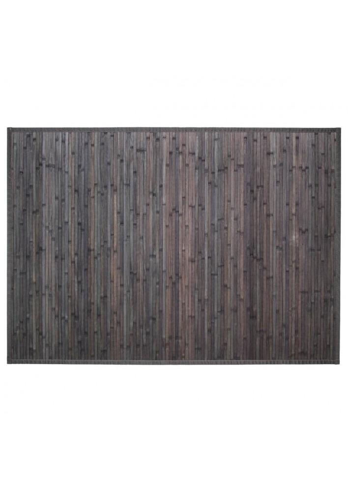 Килим  от бамбук  120  х 170  см., цвят тъмно  сиво - La Maison