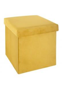 Сгъваемa табуретка  - кутия, цвят горчица  -  La Maison