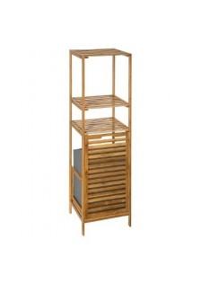 Етажерка за баня бамбук с кош за пране - La Maison