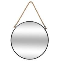 Кръгло метално огледало с корда д.55 см.- La Maison