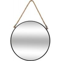 Кръгло, метално огледало с корда д.38 см.- La Maison