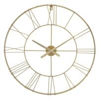 Метален часовник Gold  д.70 см. - La Maison