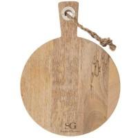 Дървена дъска за рязане с дръжка д.35 см. - La Maison