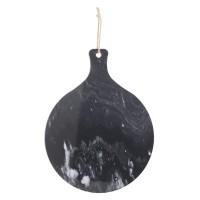 Мраморна  дъска за рязане с дръжка д.35 см. - La Maison