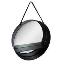 Кръгло, метално огледало с рафт д.55 см.- La Maison