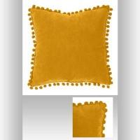 Възглавница горчица Пом Пом 40 х 40 см. - La Maison