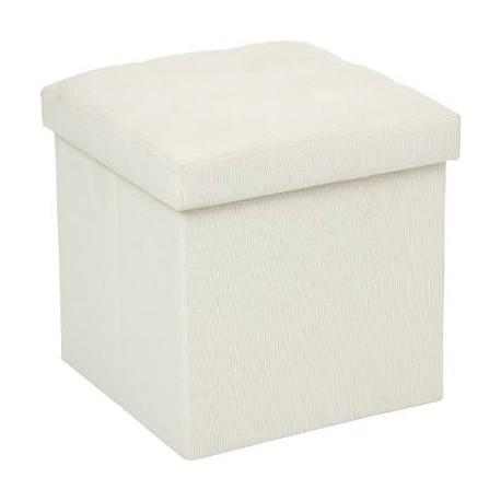 Сгъваем пуф - кутия , цвят лен Лиза - La Maison