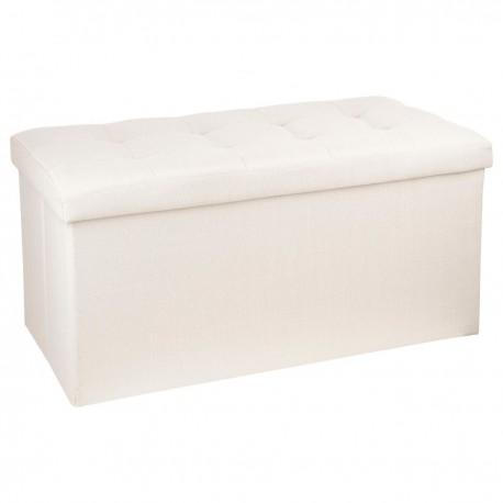 Сгъваем пуф - кутия Лиза ,голяма цвят лен - La Maison