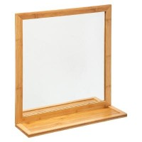 Огледало за баня бамбук - La Maison
