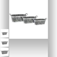 Метални кашпи 3 бр.к-т - La Maison